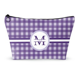 Gingham Print Makeup Bags (Personalized)