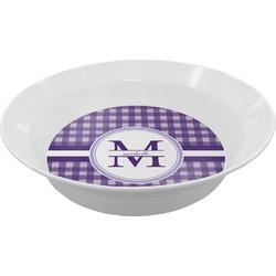 Gingham Print Melamine Bowl (Personalized)