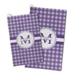 Gingham Print Microfiber Golf Towel (Personalized)
