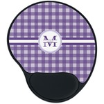 Gingham Print Mouse Pad with Wrist Support