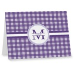 Gingham Print Note cards (Personalized)