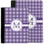 Gingham Print Notebook Padfolio w/ Name and Initial