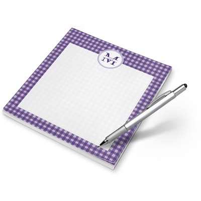 Gingham Print Notepad (Personalized)