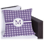 Gingham Print Outdoor Pillow (Personalized)