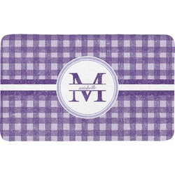 Gingham Print Bath Mat (Personalized)