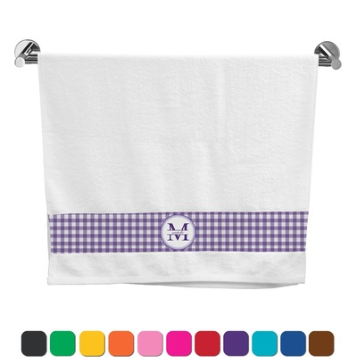 Gingham Print Bath Towel (Personalized)