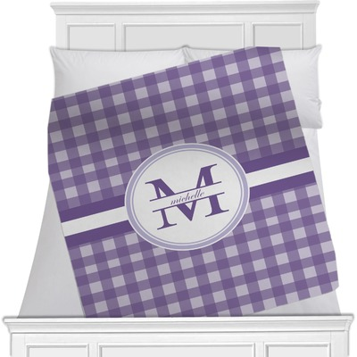 Gingham Print Minky Blanket (Personalized)