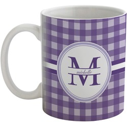 Gingham Print Coffee Mug (Personalized)