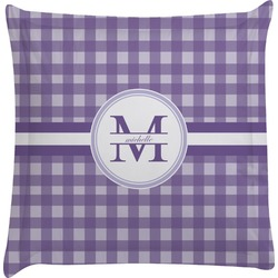 Gingham Print Euro Sham Pillow Case (Personalized)