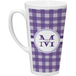 Gingham Print Latte Mug (Personalized)