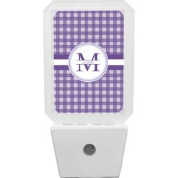 Gingham Print Night Light (Personalized)
