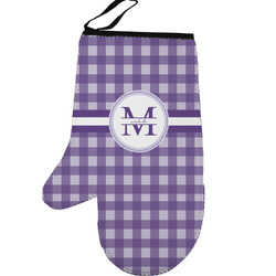 Gingham Print Left Oven Mitt (Personalized)