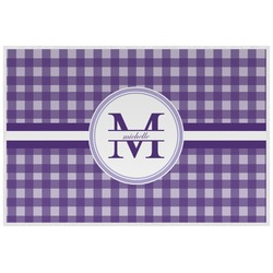 Gingham Print Placemat (Laminated) (Personalized)