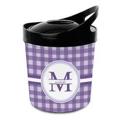 Gingham Print Plastic Ice Bucket (Personalized)