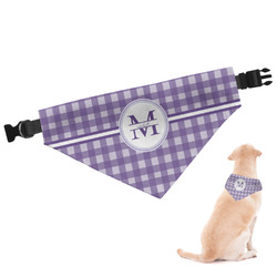 Gingham Print Dog Bandana (Personalized)