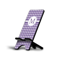 Gingham Print Phone Stand (Personalized)