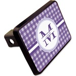 """Gingham Print Rectangular Trailer Hitch Cover - 2"""" (Personalized)"""