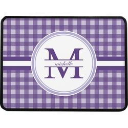 Gingham Print Rectangular Trailer Hitch Cover (Personalized)
