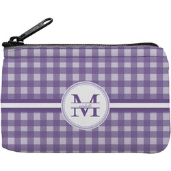 Gingham Print Rectangular Coin Purse (Personalized)