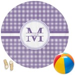 Gingham Print Round Beach Towel (Personalized)