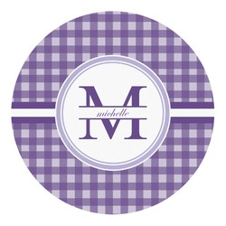 Gingham Print Round Decal - Small (Personalized)