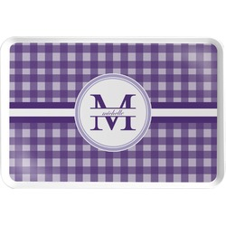 Gingham Print Serving Tray (Personalized)