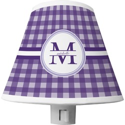 Gingham Print Shade Night Light (Personalized)