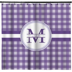 Gingham Print Shower Curtain (Personalized)