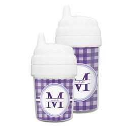 Gingham Print Sippy Cup (Personalized)