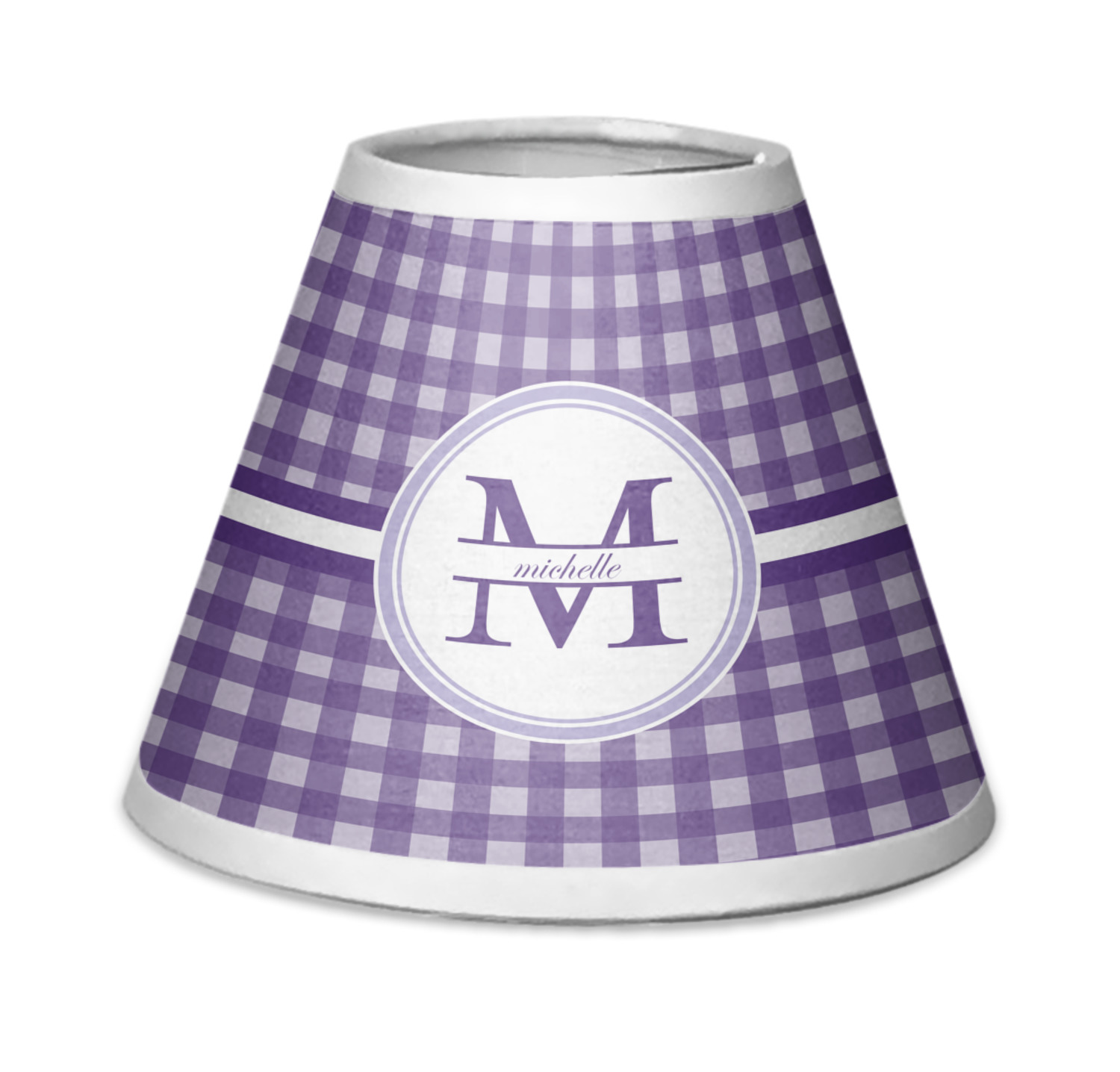 Gingham print chandelier lamp shade personalized youcustomizeit gingham print chandelier lamp shade personalized aloadofball Image collections