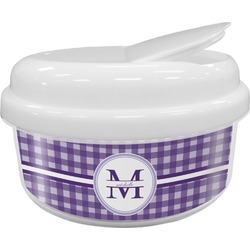 Gingham Print Snack Container (Personalized)