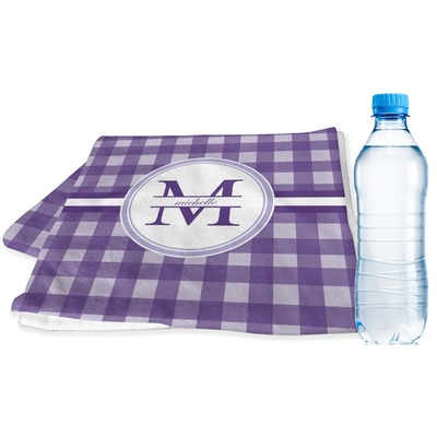 Gingham Print Sports & Fitness Towel (Personalized)