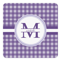 Gingham Print Square Decal - Custom Size (Personalized)