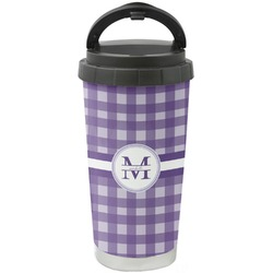 Gingham Print Stainless Steel Coffee Tumbler (Personalized)