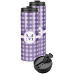 Gingham Print Stainless Steel Skinny Tumbler (Personalized)