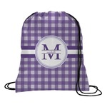 Gingham Print Drawstring Backpack (Personalized)