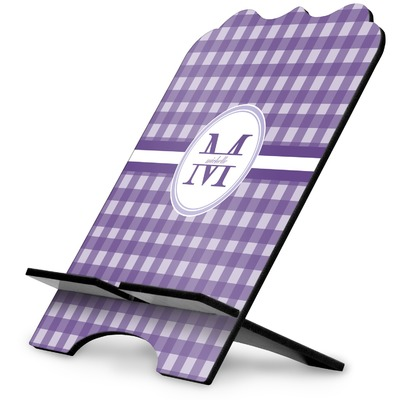 Gingham Print Stylized Tablet Stand (Personalized)