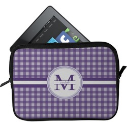 Gingham Print Tablet Case / Sleeve (Personalized)