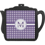 Gingham Print Teapot Trivet (Personalized)
