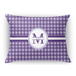 Gingham Print Rectangular Throw Pillow (Personalized)