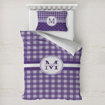 Gingham Print Toddler Bedding w/ Name and Initial