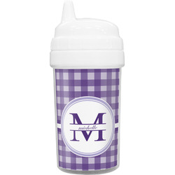Gingham Print Toddler Sippy Cup (Personalized)