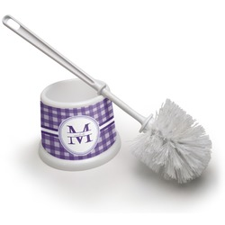 Gingham Print Toilet Brush (Personalized)