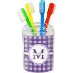 Gingham Print Toothbrush Holder (Personalized)
