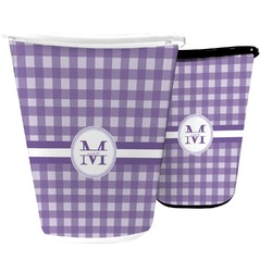 Gingham Print Waste Basket (Personalized)