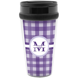 Gingham Print Travel Mugs (Personalized)