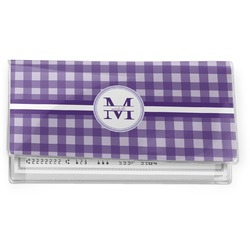 Gingham Print Vinyl Checkbook Cover (Personalized)