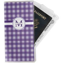 Gingham Print Travel Document Holder