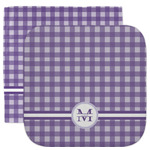 Gingham Print Facecloth / Wash Cloth (Personalized)