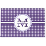 Gingham Print Woven Mat (Personalized)